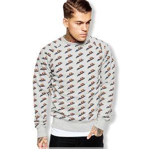 Ellesse Logo Print Crewneck Sweatshirt—S